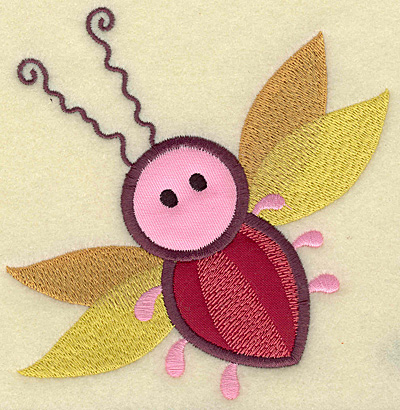 Embroidery Design: Insect double applique 4.86w X 4.98h