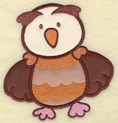 Embroidery Design: Owl triple applique 4.71w X 5.00h