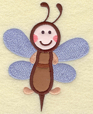 Embroidery Design: Bee double applique 3.87w X 4.97h