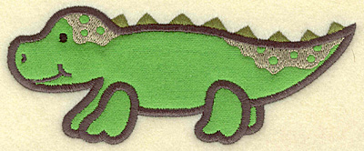 Embroidery Design: Alligator applique 5.89w X 2.39h