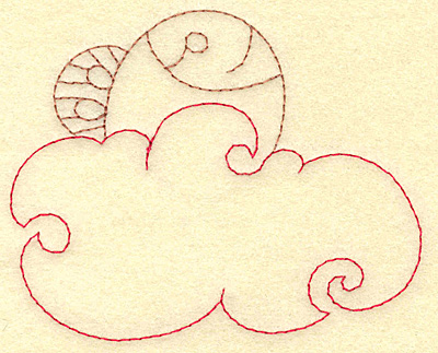 Embroidery Design: Fish in water redwork 3.87w X 3.15h