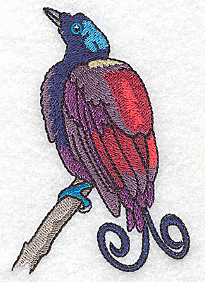 Embroidery Design: Bird A small 2.54w X 3.85h