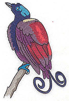 Embroidery Design: Bird A large 3.27w X 4.97h