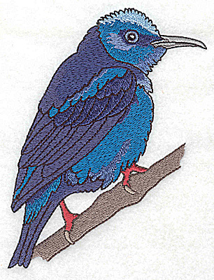 Embroidery Design: Bird C large 3.86w X 4.96h