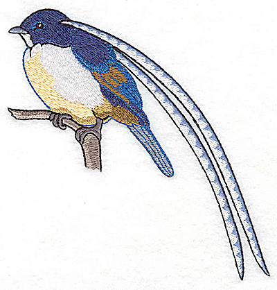 Embroidery Design: Bird E large 4.96w X 4.72h