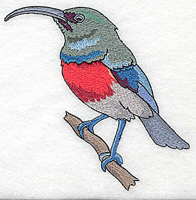 Embroidery Design: Bird F large 4.93w X 4.90h