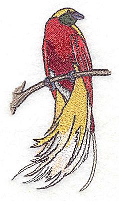 Embroidery Design: Bird I small 2.09w X 3.84h