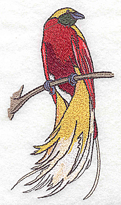 Embroidery Design: Bird I large 2.70w X 4.95h