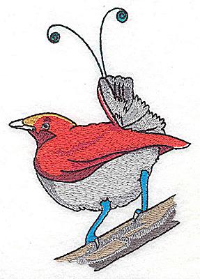 Embroidery Design: Bird J large 3.43w X 4.93h