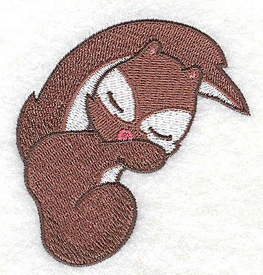 Embroidery Design: Squirrel sleeping 2.88w X 3.01h