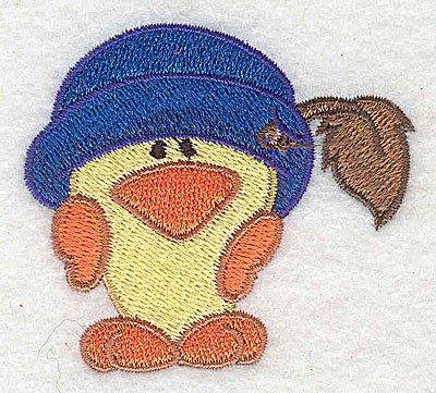 Embroidery Design: Chick wearing hat 2.57w X 2.32h