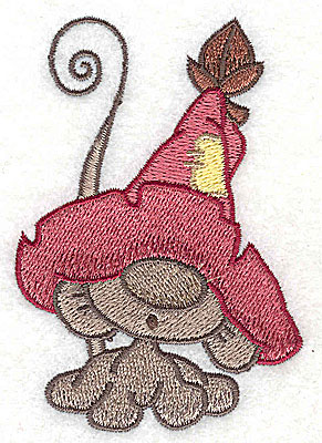 Embroidery Design: Mouse wearing hat 2.41w X 3.51h