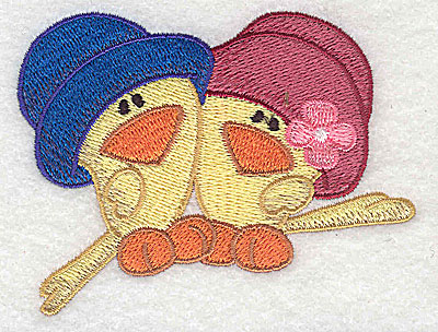 Embroidery Design: Two chicks 3.51w X 2.69h