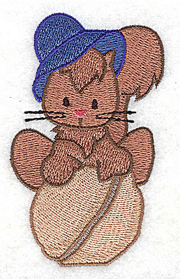 Embroidery Design: Squirrel on nut 2.17w X 3.51h