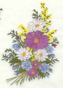 Embroidery Design: Floral Bouquet large4.77w X 7.00h