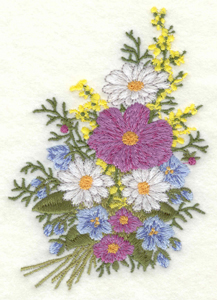 Embroidery Design: Floral Bouquet small3.41w X 5.00h