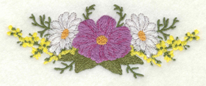 Embroidery Design: Floral arrangement horizontal5.00w X 1.92h