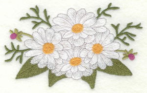 Embroidery Design: Daisy bouquet large5.00w X 3.13h