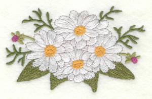 Embroidery Design: Daisy bouquet small3.90w X 2.45h