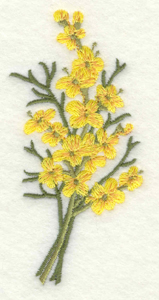Embroidery Design: Yellow flowers large1.90w X 3.90h