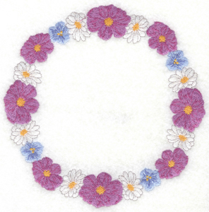 Embroidery Design: Floral circle6.98w X 6.98h