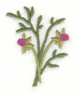 Embroidery Design: Sprig of buds1.59w X 2.00h