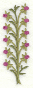 Embroidery Design: Vertical buds1.26w X 3.89h