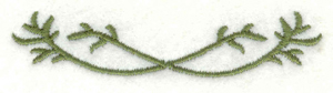 Embroidery Design: Small vine embellishment3.00w X 0.64h