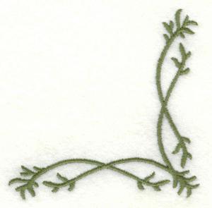 Embroidery Design: Vine embellishment corner2.93w X 2.93h