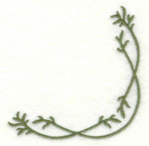 Embroidery Design: Vine embellishment rounded corner2.91w X 2.91h