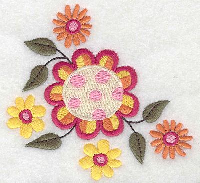 Embroidery Design: Floral corner C 3.89w X 3.67h