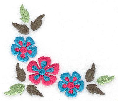 Embroidery Design: Floral corner F 3.88w X 3.30h