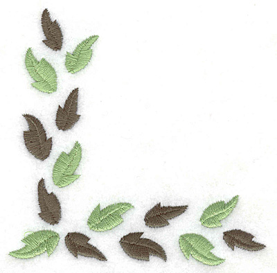Embroidery Design: Leaf corner F 3.88w X 3.89h