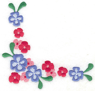 Embroidery Design: Floral corner K large 4.97w X 4.79h