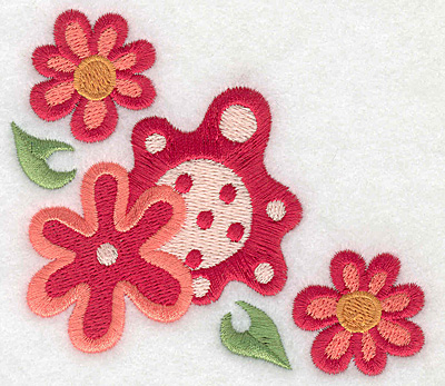Embroidery Design: Floral corner M 3.89w X 3.23h