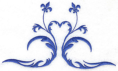 Embroidery Design: Fancy Baroque design 1 6.71w X 3.98h