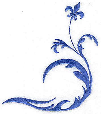 Embroidery Design: Fancy Baroque design large 4.23w X 4.97h