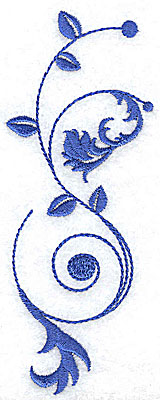 Embroidery Design: Fancy Baroque design vertical large 1.89w X 4.94h