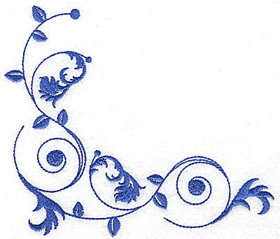 Embroidery Design: Fancy Baroque corner  5.81w X 4.98h