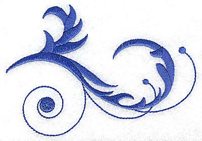 Embroidery Design: Fancy Baroque swirl design large 4.93w X 3.42h