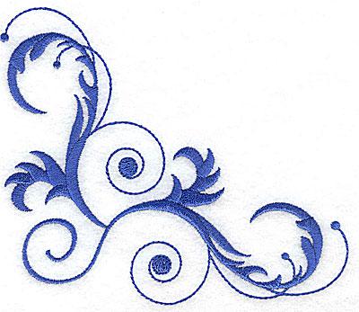 Embroidery Design: Fancy Baroque swirl design 5.14w X 4.53h