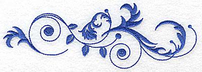 Embroidery Design: Fancy Baroque horizontal swirl design 6.96w X 2.37h