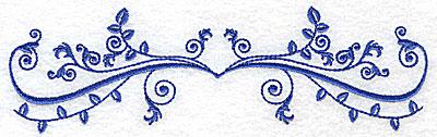 Embroidery Design: Fancy Baroque horizontal leaf design 6.97w X 2.10h