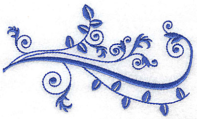 Embroidery Design: Fancy Baroque leaf design large 4.95w X 3.01h