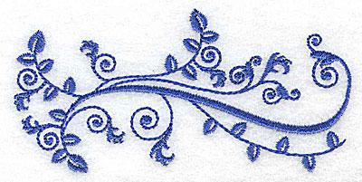 Embroidery Design: Fancy Baroque leaf design 4.23w X 2.10h