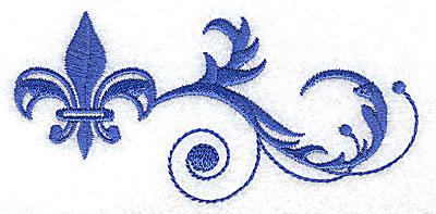 Embroidery Design: Fancy Baroque fleur-dy-lys swirls 4.22w X 2.01h
