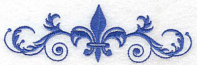 Embroidery Design: Fancy Baroque fleur-dy-lys in center 4.97w X 1.56h