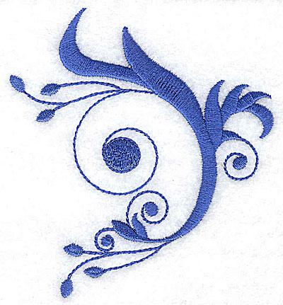 Embroidery Design: Fancy Baroque swirl design large 3.49w X 3.85h