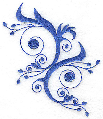 Embroidery Design: Fancy Baroque swirls large 4.18w X 4.96h