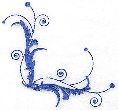 Embroidery Design: Fancy Baroque leaf swirl large 4.98w X 4.65h
